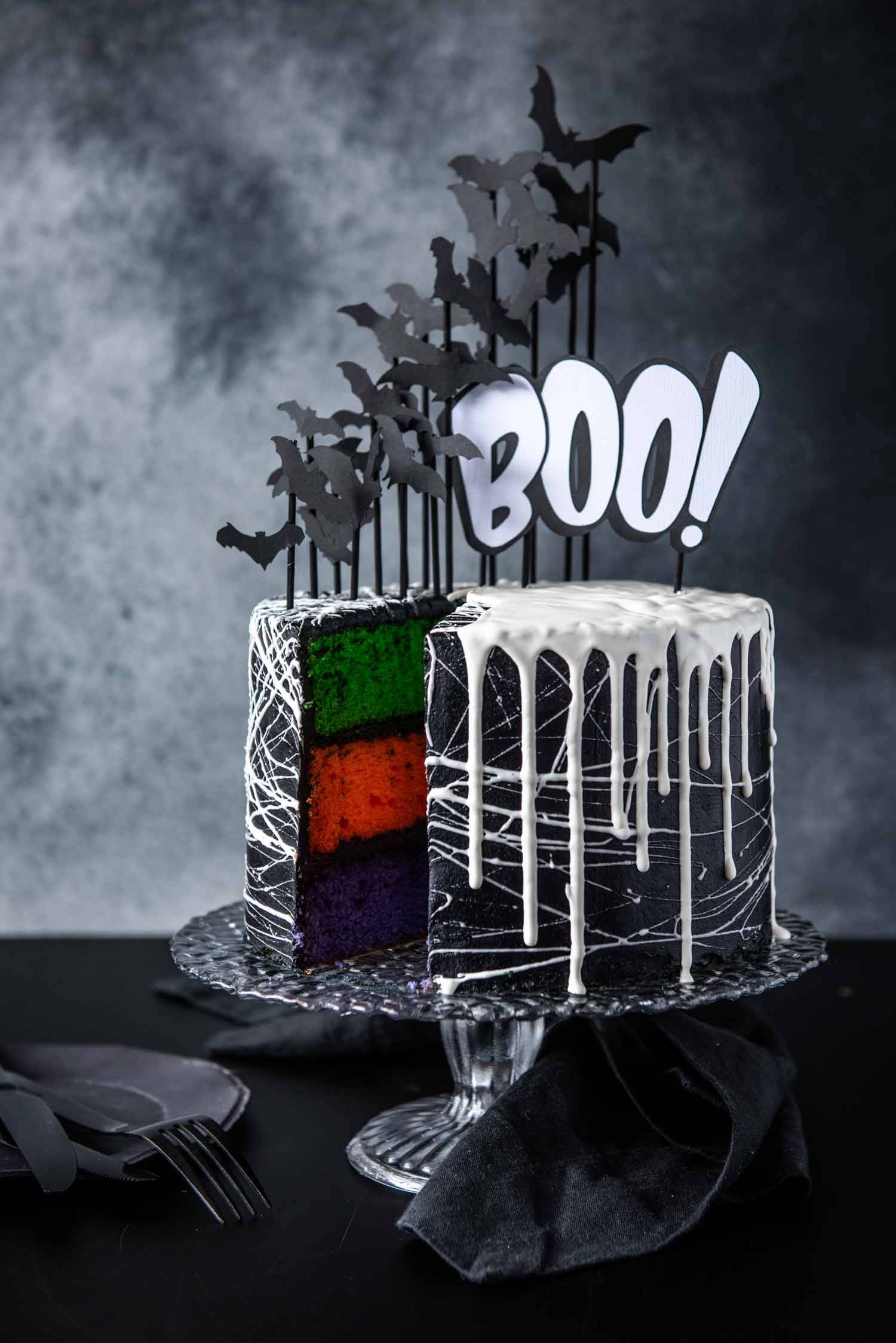 Chew Town Food Blog | Halloween Bat Cake