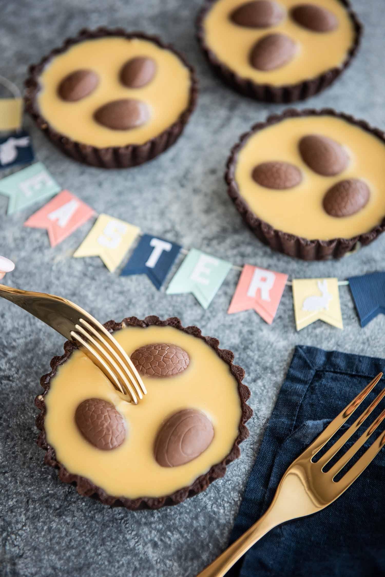 Caramilk Ganache Easter Tartlets | Chew Town Food Blog
