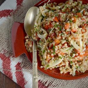 Capsicum and Fennel Pearl Couscous Salad