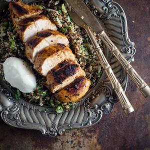 Harissa Chicken with Herbed Quinoa