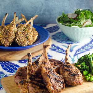Popcorn Crumbed Lamb Cutlets and Harissa Marinated Lamb Cutlets