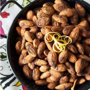 Chew Town Bites: Lemon and Garlic Almonds