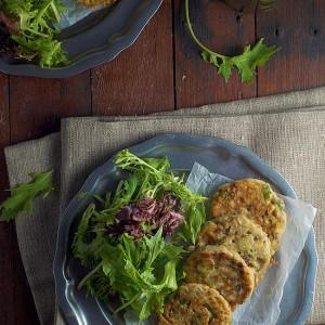 Mushroom and Asparagus Fritters