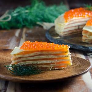 Smoked Salmon Crêpe Cake