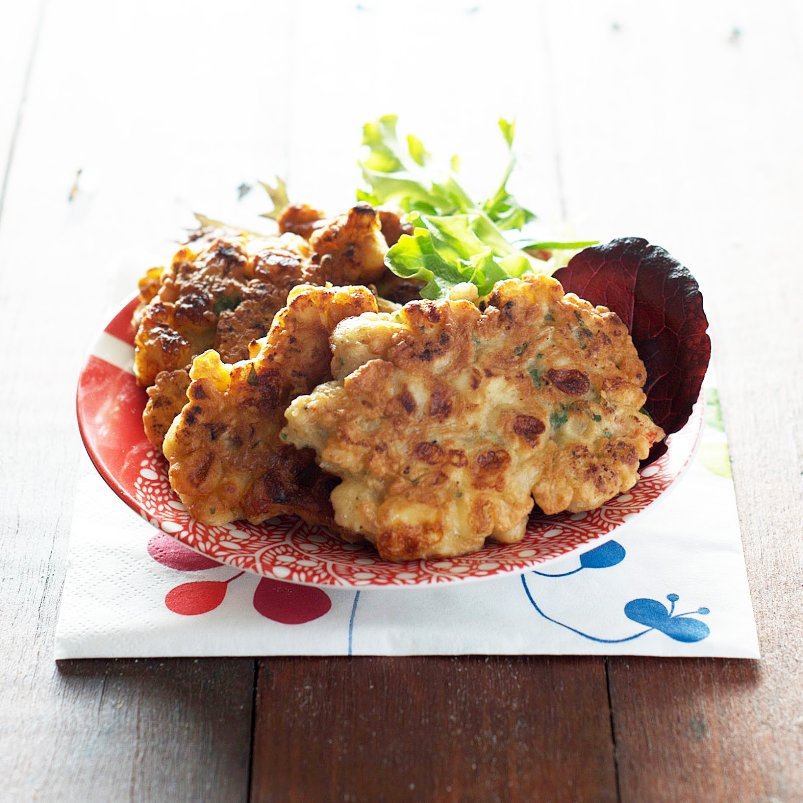 ROASTED CAULIFLOWER AND PROVOLONE FRITTERS