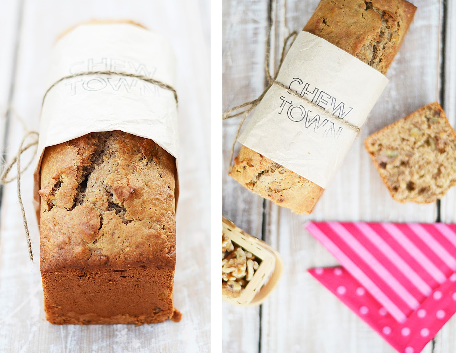 Banana and walnut bread recipe chew town food blog there are hundreds of fantastic food blogs out there that i love and admire but every now and again i come across a gem of a blog that i really resonate forumfinder Choice Image