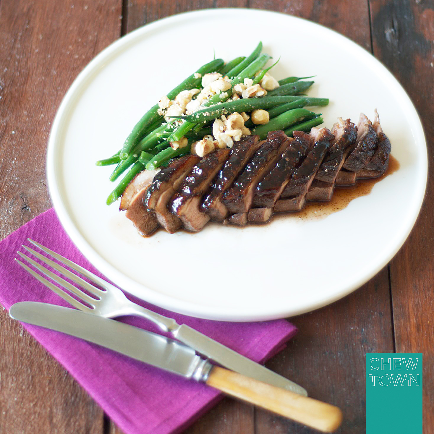 Honey soy glazed duck breast recipe chew town food blog honey soy glazed duck breast forumfinder Choice Image
