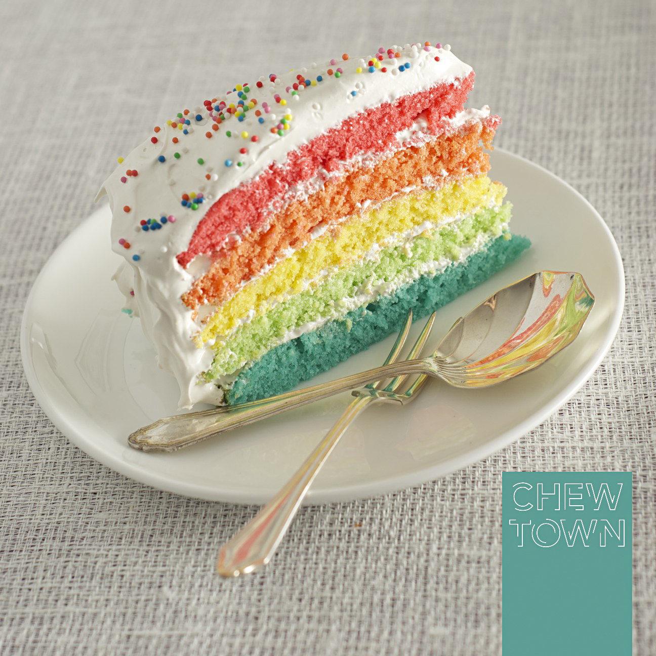 Rainbow Cake To Celebrate A Great Year